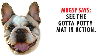 Mugsy Says: See The Gotta-Potty Mat In Action